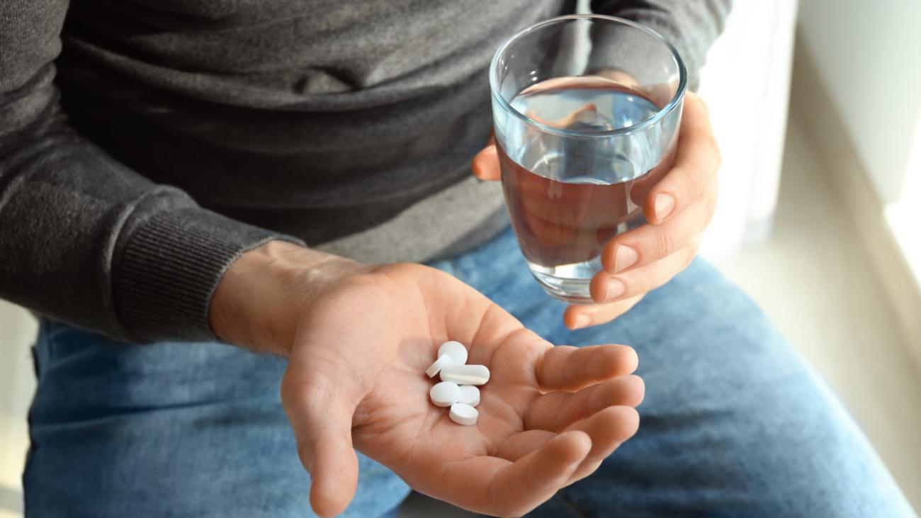 guy remembering to take medication